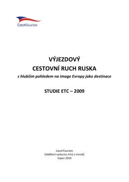 VÝJEZDOVÝ CESTOVNÍ RUCH RUSKA