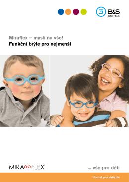 Miraflex – myslí na vše! vše pro děti Funkční brýle pro