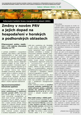 Info bulletin SMO leden-březen 2015