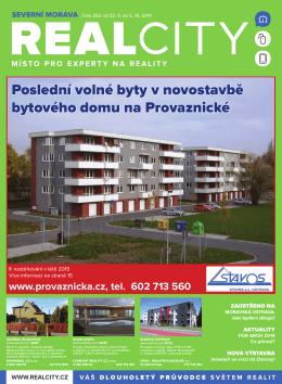 Poslední volné byty v novostavbě bytového domu na