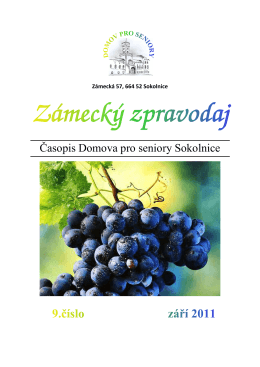 Zpravodaj 09 2011 - Domov pro seniory Sokolnice