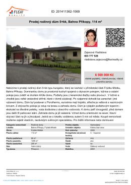 Prodej rodinný dům 5+kk, Bahno Příkopy, 114 m²