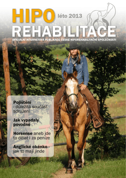 léto 2013 - Česká hiporehabilitační společnost
