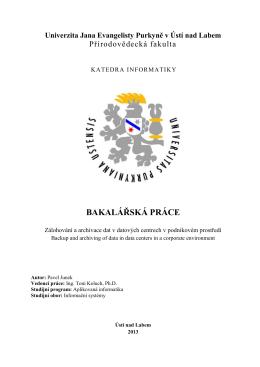 BAKALÁŘSKÁ PRÁCE - Diplomová práce roku