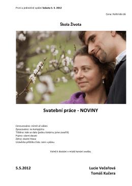 Svatební práce - NOVINY