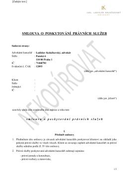 Smlouva v PDF - advokátní kancelář
