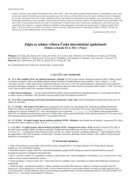 Zápis ze dne 20. 6. 2012, Praha