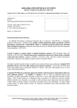 Informace 05/2014 (PDF) - Krajská hygienická stanice kraje Vysočina