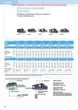 systém ventilace pro opakované využití energie