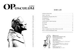 Č - OPusculum