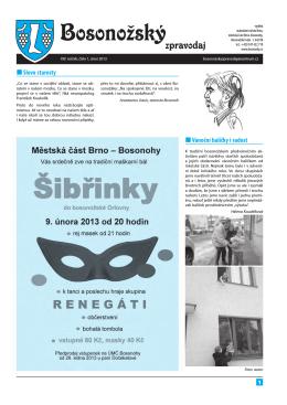 Bosonožský zpravodaj, ročník 2013, číslo 1