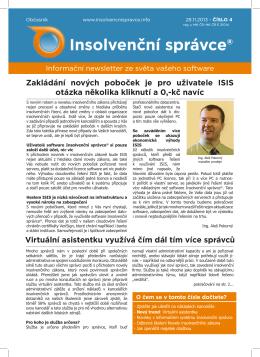 Newsletter č.4, ze dne 29.11.2013