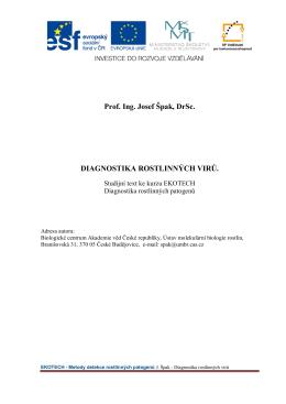 Diagnostika rostlinných virů - Biologické centrum AV ČR, vvi