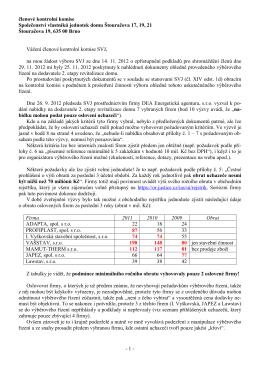 otevřený dopis kontrolní komisi