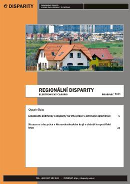 Lokalizační podmínky a disparity na trhu práce v ostravské
