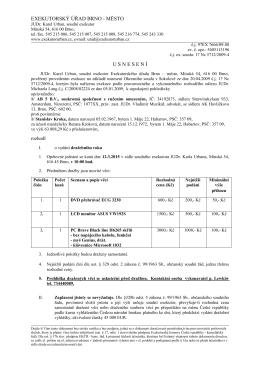 Usnesení o vydání dražebního roku čj. 97EX 7666