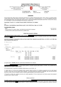 EXEKUTORSKÝ ÚŘAD PRAHA 10 - Soudní exekutor Praha 10