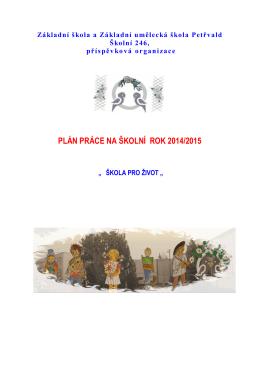 Plán práce šk. r. 2014/2015