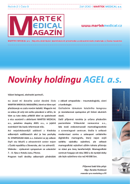 Novinky holdingu AGEL a.s.