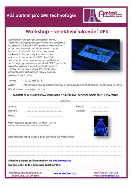 Workshop – selektivní lakování DPS