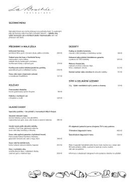 Jídelní lístek v PDF