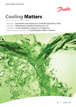 Cooling Matters 2-2013