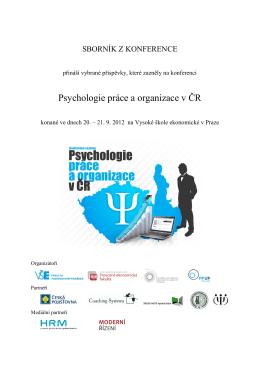 Psychologie práce a organizace v ČR