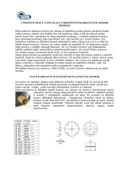 výkopové práce a instalace vodotěsných kabelových komor