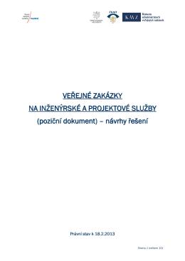 poziční dokumenty – inženýrské služby 2013/1
