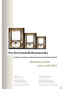Pro život kostelů Broumovska