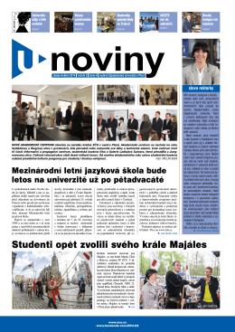 duben-květen 2014 - Noviny - Západočeská univerzita v Plzni