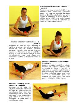 Strečink- adduktory vnitřní stehno - 1.