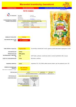 Moravské brambůrky česnekové 175g