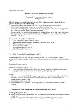 Panogastin 40mg - Příbalová informace
