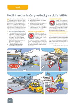 Mobilní mechanizační prostředky na ploše letiště