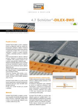 4.7 Schlüter®-DILEX-BWS