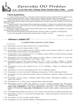 Zpravodaj OÚ Předslav