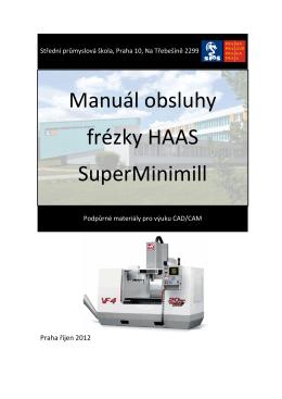 Učební texty - frézka SuperMinimill
