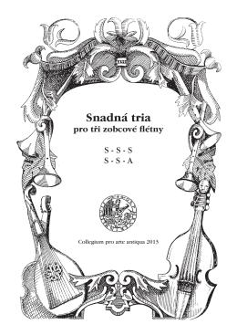 Snadná tria - Collegium pro arte antiqua