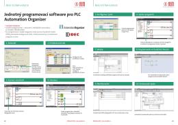 Jednotný programovací software pro PLC