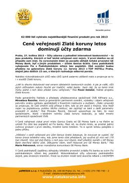 27. 5. 2013 Tisková zpráva: Výsledky hlasování