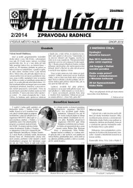 Hulíňan č. 2/2014