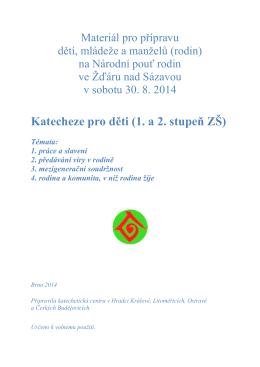 Katecheze pro děti (1. a 2. stupeň ZŠ)