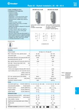 Řada 22 - Stykač instalační, 25 - 40 - 63 A