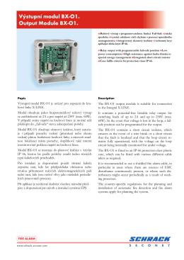 Výstupní modul BX-O1. Output Module BX-O1.