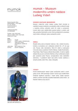 mumok – Muzeum moderního umění nadace Ludwig Vídeň