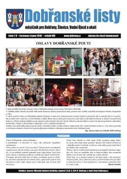 Dobřanské listy - červenec/srpen 2010