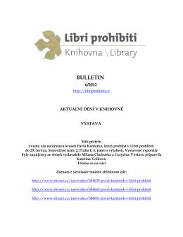 Bulletin 2012/06 - Libri prohibiti