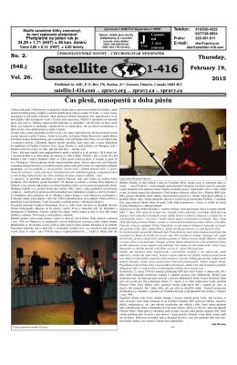 Čas plesů, masopustů a doba půstu - Satellite 1-416