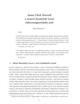 James Clerk Maxwell a zrození dynamické teorie